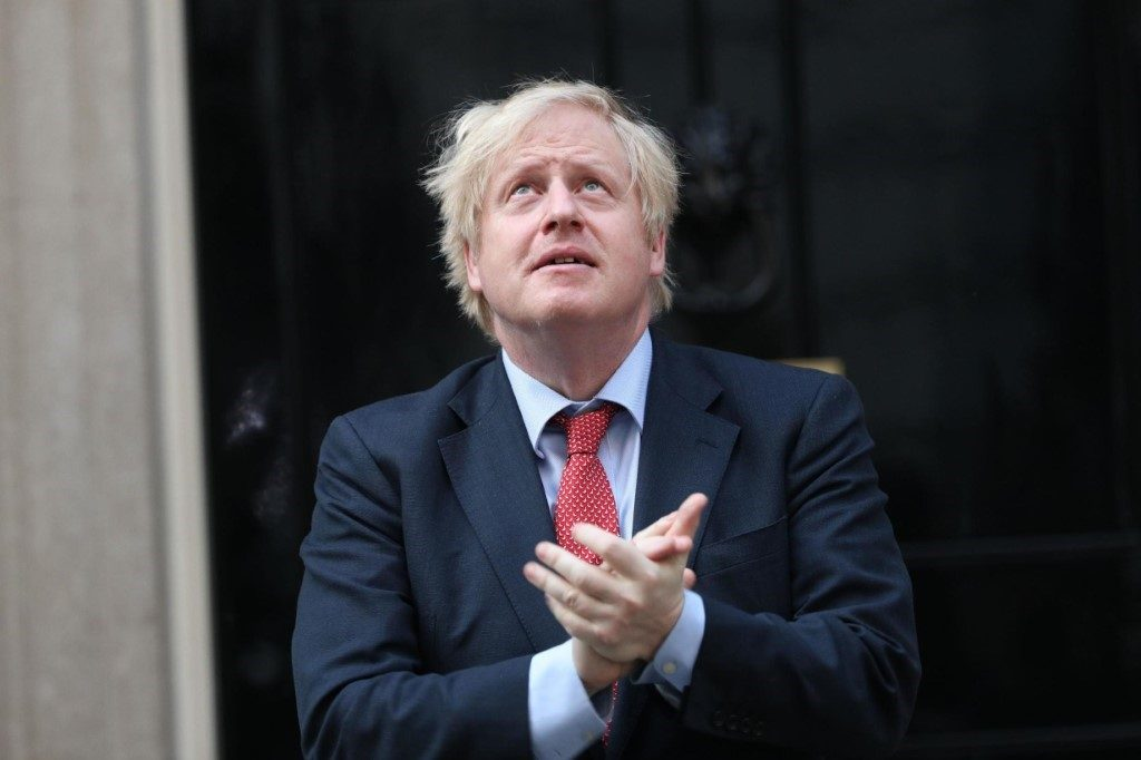 Boris claps for NHS